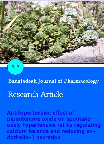 Vol 12 No 3 (2017) | Bangladesh Journal of Pharmacology
