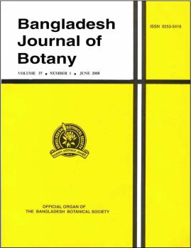 Cover of Bangladesh Journal of Botany
